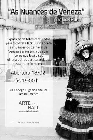 convite Exposição Jack Burin na Arte Hall